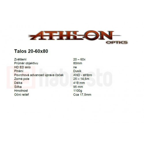 Athlon Optics Talos 20-60x80