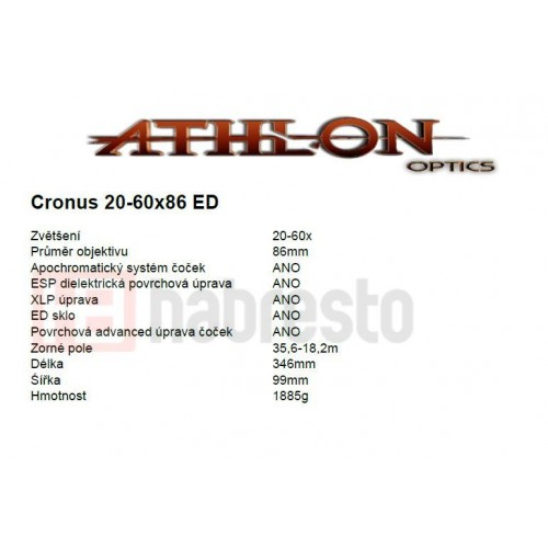 Athlon Optics Cronus 20-60x86